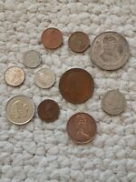 Vintage Coins  from Around the World Lot of  11 Coins From  1906 - 2013