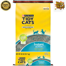 Purina Tidy Non-Clumping Cat Litter Instant Action for Multiple Cats, 40 lb New