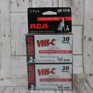 RCA VHS-C Camcorder Tape Standard Grade 30 mins 2 Pack