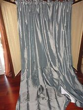 J.C. PENNEY LINED THERMAL BLUE SHIMMER IRIDESCENCE (PAIR) PANELS TIEBACKS 42X95