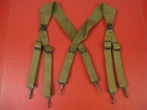 WWII Era US Army M1936 Combat Pack Suspenders Complete - Original - Very NICE