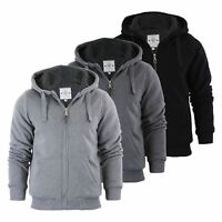 Brave Soul Zone Mens Hoodie Sherpa Fleece Lined Zip Up Hooded Sweater
