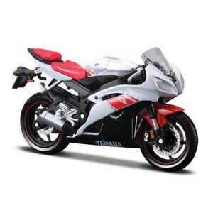 Yamaha YZF R6 Modèle 1:18 Echelle Moto Jouet Cadeau Blanc Rouge