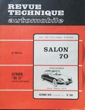 Revue technique CITROEN DS 21 INJECTION ELECTRONIQUE + PALLAS  RTA 294 1970