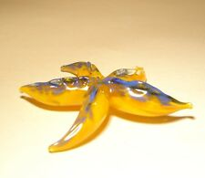 "Blown Glass ""Murano"" Figurine Animal Fish Small Orange and Blue STARFISH"