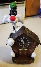 Looney tunes Tweety & Sylvester Talking Animated Clock parts or repair