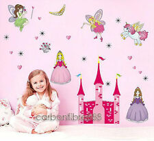 HUGE Fairy Princess Castle Wall Stickers REMOVABLE Girls Room Nursery Art Decor