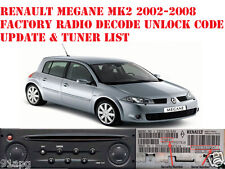 Renault Megane MK2 2002-2008 Factory Radio Decode Unlock Code Car CD Radio