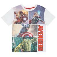 Marvel - Avengers - Official  - Boys Kids Teen - T-shirt - White - Ages 7-16