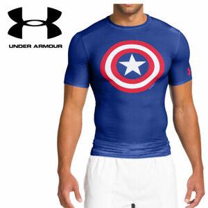 Under Armour Captain America Shield Mens Compression Shirt NEW