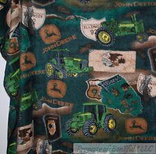 BonEful FABRIC Fleece Throw Quilt 50X60 Big L Panel Farm John Deere Tractor Tire