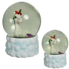 Rainbow Unicorn & Cloud 65mm Waterball Glitter / Snow Globe