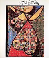 VICTOR VASARELY HAND SIGNED SIGNATURE * FLOWER GIRL * PRINT