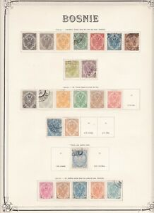 Bosnia and Herzegovina collection of early issues on 8 old time pages