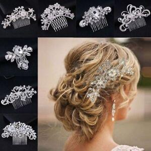Bridal Wedding Crystal Jewel Diamante Hair Comb Clip Pin Prom Part Fascinator UK