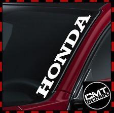 HONDA Parabrezza Auto/Furgone Decalcomania Sticker JAP JDM -17 COLORI 550mm