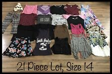 Girls Clothing Lot, 21 Items, Size 14, Total Girl, Old Navy, Pony Tails, Energie