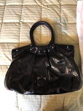 Salvatore Ferragamo Celtico Purse Black Patent Calfskin Leather Hobo Bag