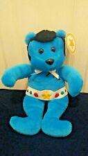 Celebrity Bears JC Bears Born A Star #6 Vintage Plush Bear Blue 9-18-98 with Tag