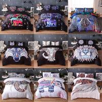 Bohemian Elephant Duvet Quilt Coverlet Pillow cases Bedding Set Twin Queen King