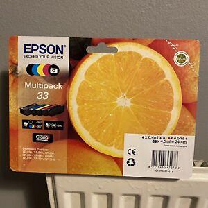 Genuine Epson 33 Multipack Ink Cartridges T3337 B/C/Y/M XP-530 XP-640 XP-830