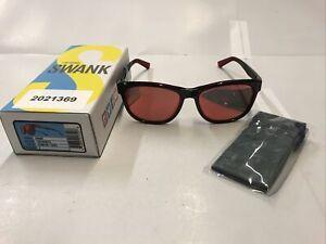 Tifosi Swank Sunglasses - Crimson/Onyx Frame with Smoke Red Lenses