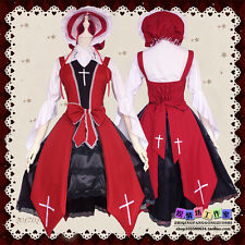 Anime Cosplay Costume Cross Witch Sweet Lolita Red Dresses Night Gothic Vintage