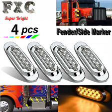 4X Clear/Amber Roof Clearance Light 16Led Waterproof Side Marker for Peterbilt