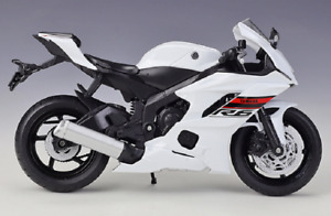 Welly 1:12 2020 YAMAHA YZF R6 White Diecast Motorcycle Bike Model Toy New In Box
