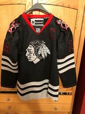 Jonathan Toews 19 CHICAGO BLACKHAWKS JERSEY BLACK Size 46