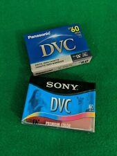 DVC MiniDV Digital Video Camcorder Cassette Premium Tapes 60 min Lot of 2