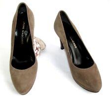 JAIME MASCARO Court shoes heels 9 cm plateau leather brown velvet 37