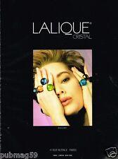 Publicité advertising 1989 Les Bijoux bague Cristal Lalique