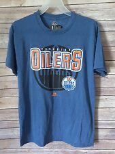 Edmonton Oilers Majestic NHL Logo Men T Shirt Blue Size M NWT