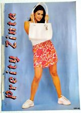 Rare Old Bollywood Actor Poster - Preity Zinta - 12 inch X 16 inch