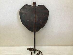 Y1721 GUNBAI Raden Makie lacquer war fan Japanese antique samurai busho bushi