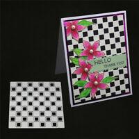 Stanzschablone Quadrat Hintergrund Weihnachten Hochzeit Geburtstag Karte Album