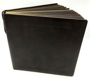 "Leathermark Holson Gold Trim Photo Album 20 Pg 12"" x 12"" Hand Crafted Wedding"
