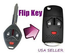 3 Button Mitsubishi Flip Key Replacement Housing Shell Case Blank Uncut USA