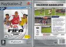 GIOCO PLAY STATION  2 - PLATINUM  - FIFA FOOTBALL 2004 - NUOVO SIGILLATO