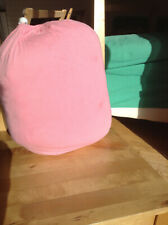 Full sized pink cotton bedsheets in a bag