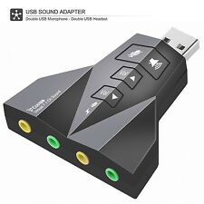 New USB External Stereo Sound Adapter Virtual 7.1 for Window  Mac Linux