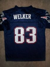 REEBOK New England Patriots WES WELKER nfl Jersey YOUTH KIDS BOYS (L-LARGE)
