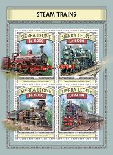 Sierra Leone 2016 MNH Steam Trains Engines Locomotives 4v M/S Railways Stamps