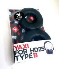 Black Yaxi Type B Replacement ear pads for Sennheiser HD25 - Fits all HD25 Range