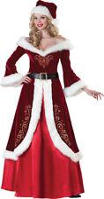 Mrs St Nick Santa Clause Adult Womens Christmas Xmas Holiday Fancy Dress Costume