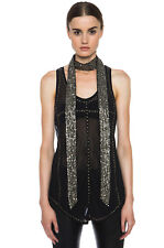 New Isabel Marant Ivory Pulse Sequin Embellished Scarf $1255 one size