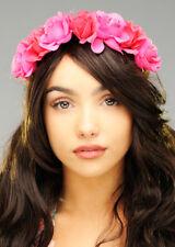 Hula Girl Pink Flower Hawaiian Headband