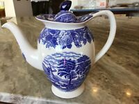 English Scenery Blue by Wood & Sons SMALL COFFEE POT & LID, England
