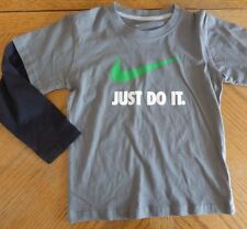 Nike Just Do It NEW long-sleeved tee size 6 NWT 100% Cotton Gray Athletic top